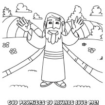 Cartoon of Jesus Resurrection Coloring Page