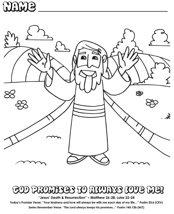 The Life And I Am The Resurrection Coloring Page Coloring ...