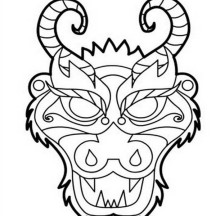 Chinese Opera Mask Templates | Free Printable Templates & Coloring ... | 216x216