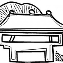 Entrance Gate of Ancient China House Coloring Page
