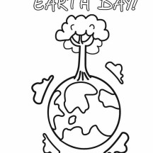 Happy Earth Day With Healthier Forest Coloring Page