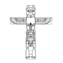 How to Carved a Totem Poles Coloring Page