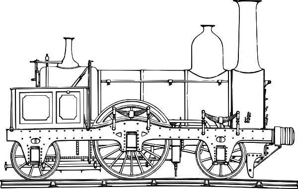How to Draw Steam Train Coloring Page