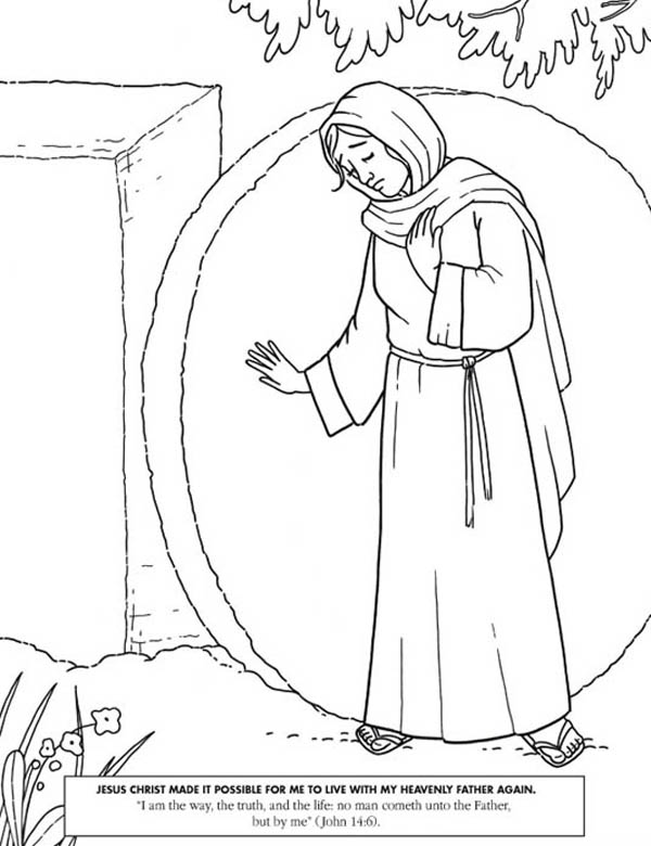 Jesus Christ Made it Possible in Jesus Resurrection Coloring Page