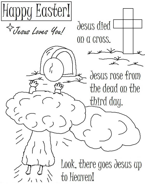 death and resurrection coloring pages - photo#6