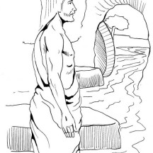 Jesus Resurrection Tomb Coloring Page