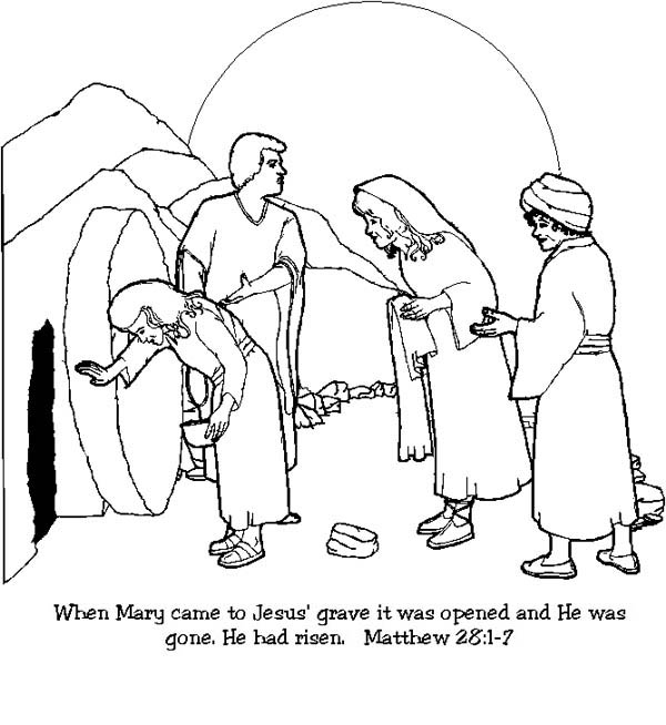Raising Of Lazarus Coloring Pages