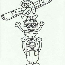 Minion Totem Poles Coloring Page