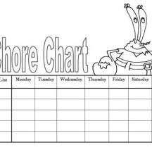 Mr Krabs Chart Coloring Page