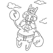 Mr Krabs is Flying Coloring Page