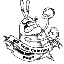 Mr Krabs with Mustache is Angry Coloring Page