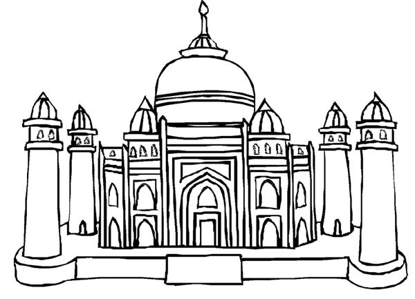 Mughal Emperor Shah Jahan of the Taj Mahal Coloring Page