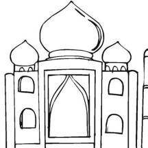 Mumtaz Mahal Mausoleum Taj Mahal Coloring Page