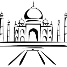 Painting of Taj Mahal Coloring Page