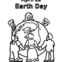 Peoples Around the World Celebrating Earth Day Coloring Page