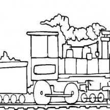Steam Train Bring a Lot of Coal Coloring Page