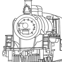Steam Train Coloring Page for Kids