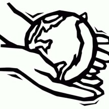 Support the Earth with Your Own Hands on Earth Day Coloring Page