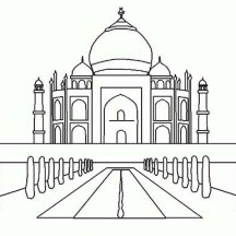 Taj Mahal 7th Wonder of the World Coloring Page