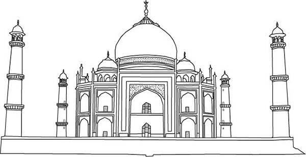 Taj Mahal Architect by Ahmad Lauhari Coloring Page