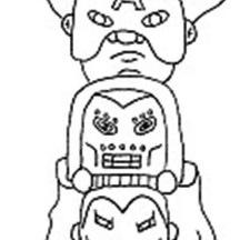The Avengers Totem Poles Coloring Page