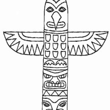 Totem Poles from Thuja Plicata Coloring Page