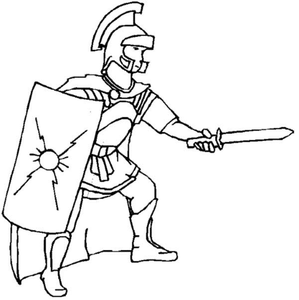 A Realistic Drawing Of Ancient Rome Legionnaires Coloring Page Netart