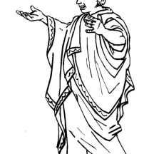 A Typical Ancient Rome Senate Figure Coloring Page
