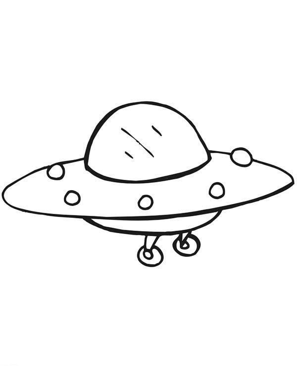 Alien Spaceship Coloring Page