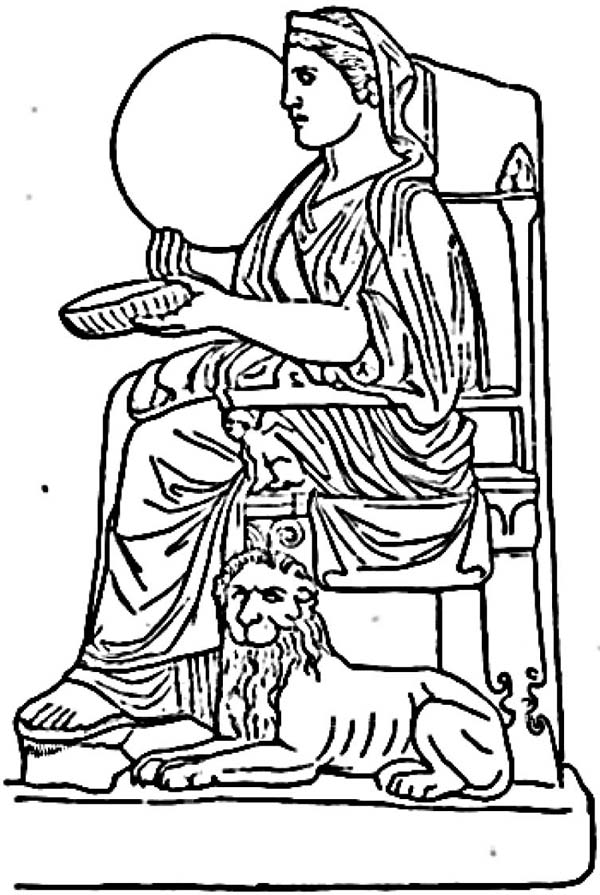 Ancient Rome Goddess Rhea Coloring Page