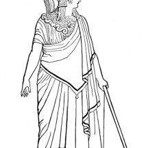 Ancient Rome Goddess of War Coloring Page