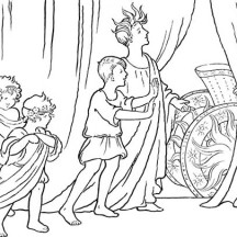 The Story of Apollo and the Sun Chariot from Ancient Rome Coloring Page