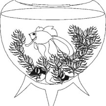 A Very Unique Fish Tank Coloring Page