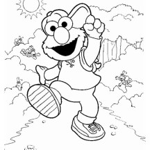Adventure of Elmo Coloring Page