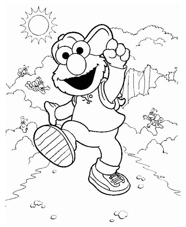 Adventure of Elmo Coloring Page