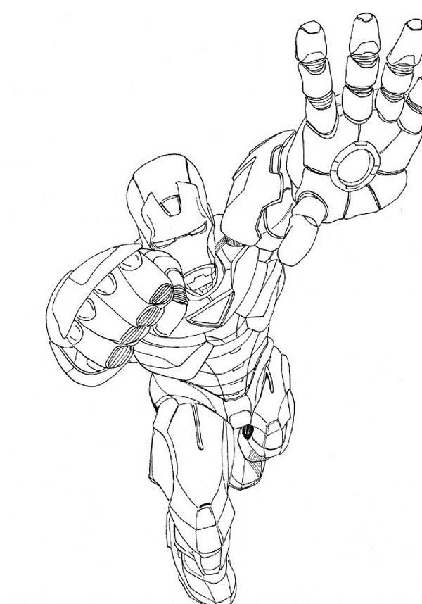 American Hero Iron Man Coloring Page