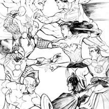Avengers vs Justice League Coloring Page