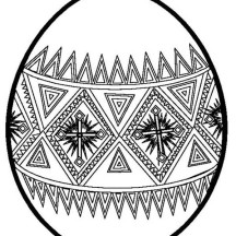 Beautiful Easter Egg Coloring Page