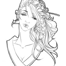 beautiful coloring pages realistic - photo#17