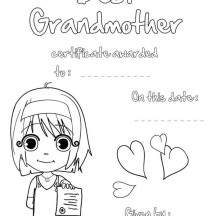 Best Grandmother in Gran Parents Day Coloring Page
