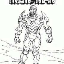 Classic Iron Man Coloring Page