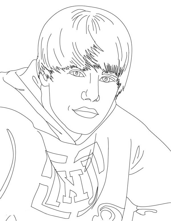 Cool Justin Bieber Coloring Page