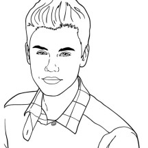 Cute Music Icon Justin Bieber Coloring Page