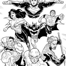DC Comic Justice League Coloring Page
