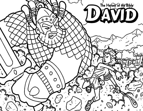 David The Bible Heroes Coloring Page Netart
