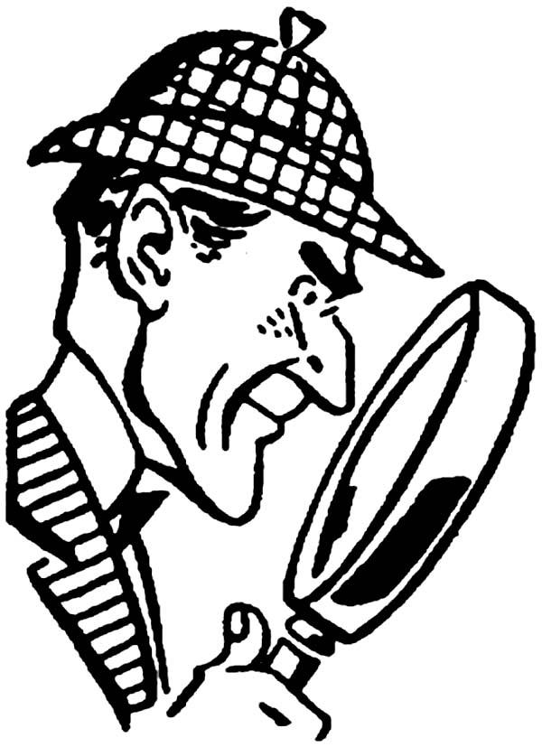 Detective Sherlock Holmes Coloring Page for Kids