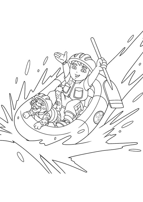 Diego Going Rafting with Baby Jaguar in Go Diego Go