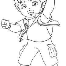 Diego High Passion in Go Diego Go Coloring Page