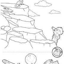 Diego Rescue the Marmoet in Go Diego Go Coloring Page