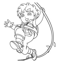 Diego Saves Animals in Go Diego Go Coloring Page